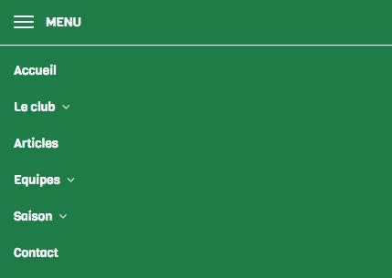 Celtics - Menu mobile - Kalisport