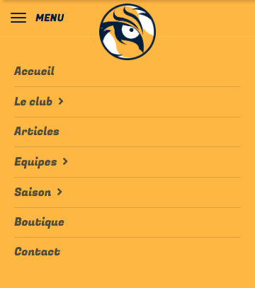 Predators - Menu mobile - Kalisport